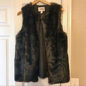 Forever 21 Contemporary Brown Fur Vest